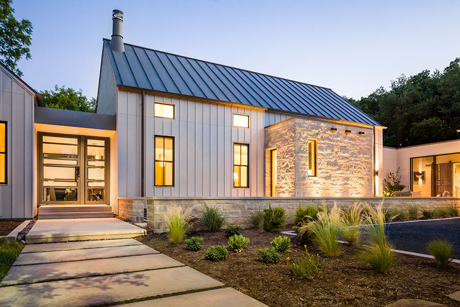 Modern farmhouse olsen studios for Modern home exterior panels