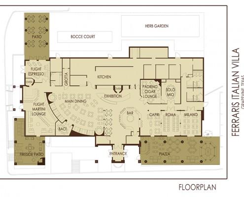 Ferraris Italian Villa Grapevine Floorplan